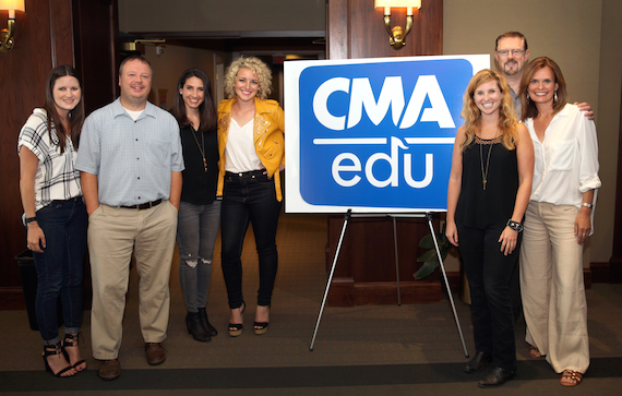 Pictured (L-R): Taylor Lindsey, Sony Sr. Director of A&R; Josh Easler, Sony VP of Promotions Arista; Sarah Westbrook, Sony VP of Digital Strategy; Cam; Kylen Sharpe, CAA Agent; Allen Brown, Sony VP of Communications; and Suzanne Alexander of GAC.