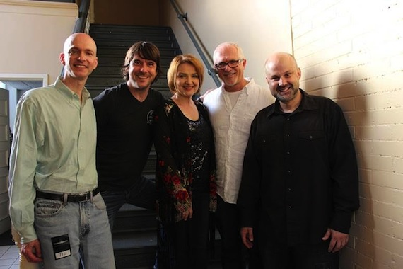 Pictured (L-R): John Virant, GM, Rounder Label Group; Gary Nichols and Tammy Rogers King of The SteelDrivers; Cliff O'Sullivan, COO, Rounder Label Group, Brad Chelstrom, Project Manager, Rounder Label Group