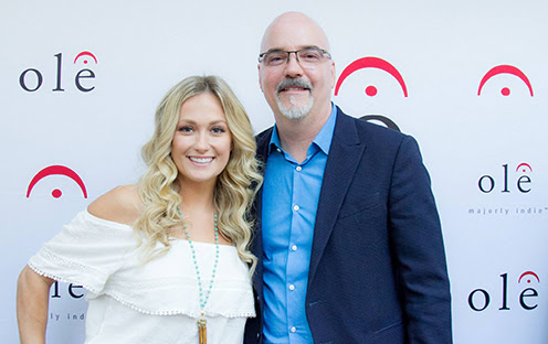 (L-R): Meghan Patrick with ole Founder and CEO, Robert Ott.