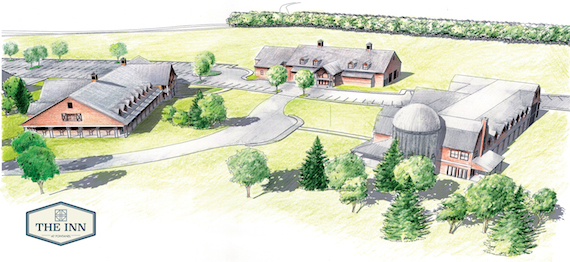 Rendering of the expansion planned for Inn at Fontanel.