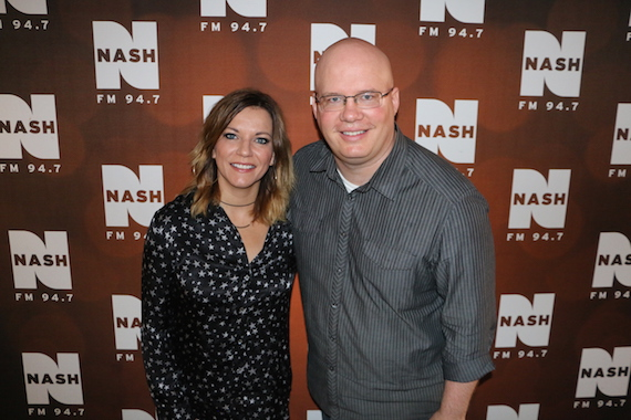 Martina McBride with NASH FM 94.7's Jesse Addy.