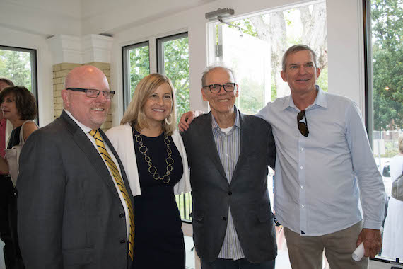 Pictured (L-R): Cumberland Heights CEO Jay Crosson, Nashville Mayor Megan Barry, musician John Hiatt and philanthropist George Beodecker