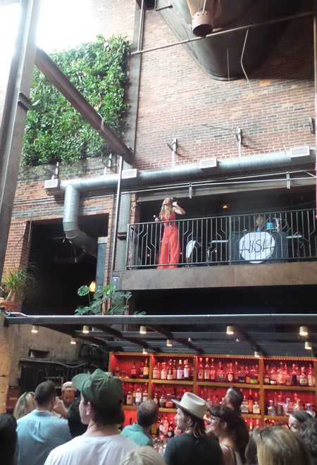 Olivia Lane welcomes guests to her EP release party at Nashville's Old Glory