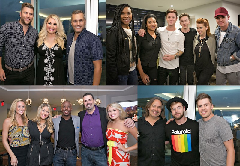 Pictured (top left photo, L-R): Eric Daigle (Holy Graffiti), Courtney Allen (Starstruck), Shane Stevens (Holy Graffiti), Soaky Siren, Erika Nuri, Nash Overstreet, Cameron Montgomery, Jesse Lee, Jesse McCartney. Picture bottom L to R: Lauren Jane Sanders, Rachel Knepp, Marcus Cobb, Bryan Lyda, Rachel Tripp, James Slater, Jimmy Robbins, Dave Pittenger
