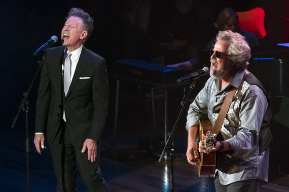Pictured (L-R): Lyle Lovett, Robert Earl Keen. Photos: Steve Lowry/Ryman Archives