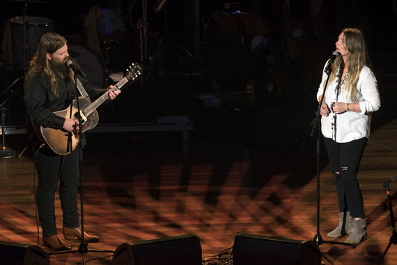 Pictured (L-R): Chris Stapleton, Morgane Stapleton. Photos: Steve Lowry/Ryman Archives