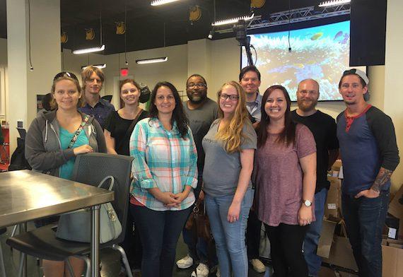 Sony/ATV staffers volunteer at the Nashville Public Library.