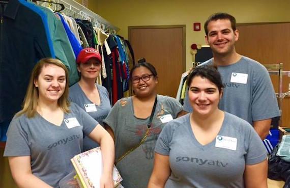 Sony/ATV staffers volunteer at The Next Door.