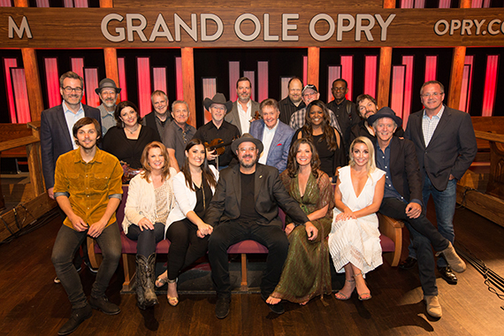 Vince Gill celebrates 25th Anniversary with night of memorable collaborations with family and close friends during two three hour shows on Saturday's Grand Ole Opry