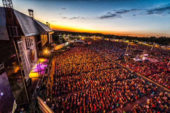 Aerial crowd shot at 34th WE Fest. Photo: Phierce Photo