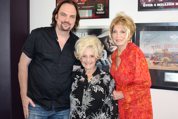 MusicRow Publisher/Owner Sherod Robertson, Brenda Lee, Jeannie Seely.