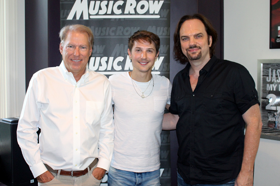 Pictured (L-R): Switched On Entertainment's John Hamlin, Ryan Follese, and MusicRow owner/publisher Sherod Robertson.