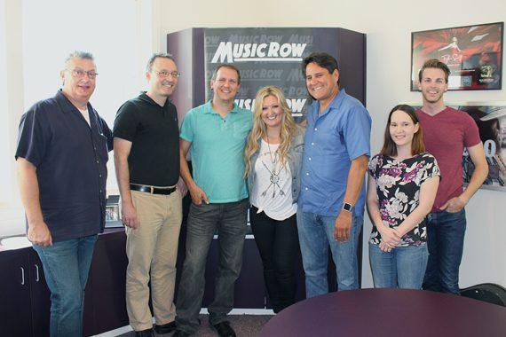 Erica Nicole with MusicRow staffers.
