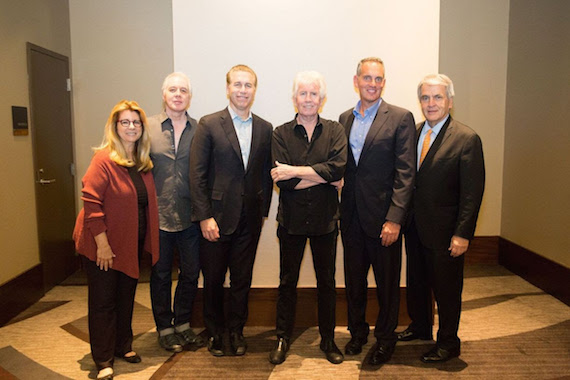 Pictured (L-R): RAB President & CEO Erica Farber, BMI songwriter & guitarist Shane Fontayne, BMI SVP of Licensing Mike Steinberg, BMI songwriter Graham Nash, BMI President & CEO Mike O'Neill and NAB EVP of Radio John David.