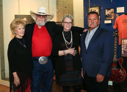 Pictured (L-R): Hazel Daniels, Charlie Daniels, Carolyn Tate, David Corlew. Photo by Anna Webber/Getty Images for Country Music Hall of Fame & Museum