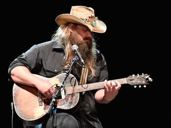 Chris Stapleton performs during All for the Hall Los Angeles. Photo by Mike Windle, Getty Images for the Country Music Hall of Fame and Museum