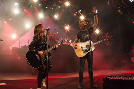 Pictured (L-r): Maren Morris, Dierks Bentley. Photo: Ryan Silver
