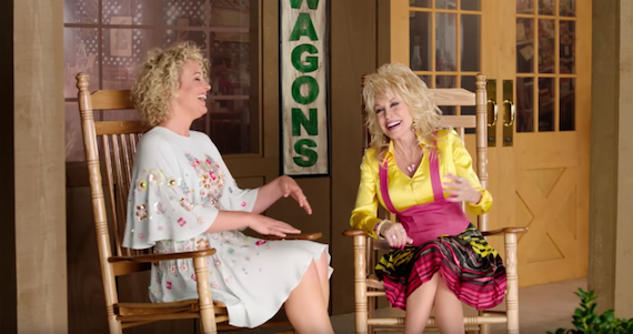 Dolly Parton chats with Cam as part of Cracker Barrel's Front Porch series.