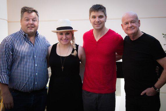 Pictured: Bradley Collins, BMI; Courtney Allen, Creative Director; Starstruck; Evan Coffman; Cliff Williamson, Starstruck.