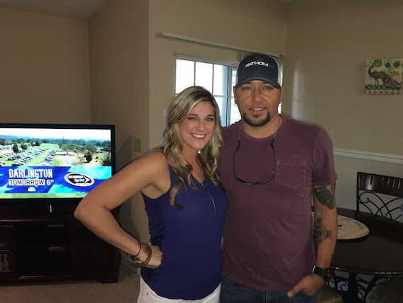 Jason Aldean with fan Brittany Marcum