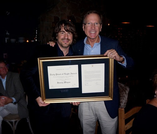 Pictured: Jimmy Wayne receives Points Of Light Award from Neil Bush