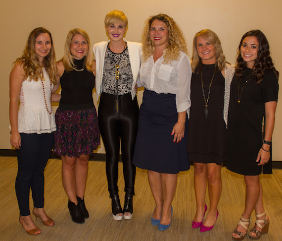 Pictured (L-R): Katie Cline, Mandy Gallagher, Country Music Singer Maggie Rose, Emilee Warner, Leanne Weber, Maya Akser.