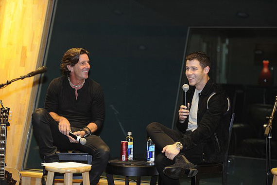 Pictured (L-R): Recording Academy Nashville Chapter Trustee, Brett James and recording artist Nick Jonas. Courtesy of The Recording Academy/photo by Frederick Breedon/WireImage.com ©2016