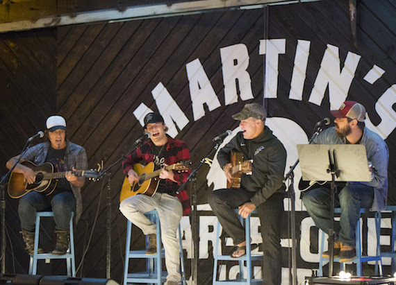 Pictured (L-R): Angelo Petraglia, Tucker Beathard, Casey Beathard and Jonathan Singleton Photo: Steve Lowry
