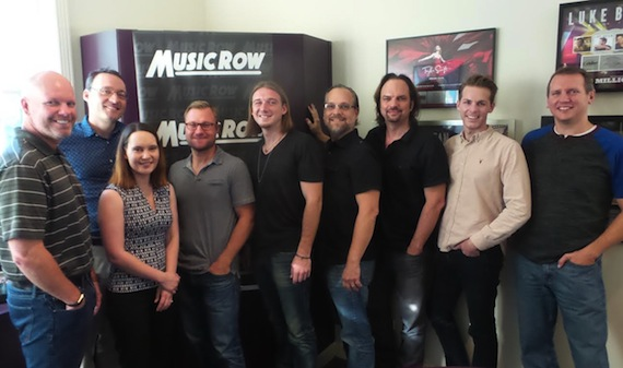 Pictured (L-R): Clay Hunnicutt, Big Loud Records; Craig Shelburne and Jessica Nicholson, MusicRow; Mike Bachta, Working Group Management; Morgan Wallen; Dirk Hemsath, Working Group Management; Sherod Robertson, Eric T. Parker and Troy Stephenson, MusicRow