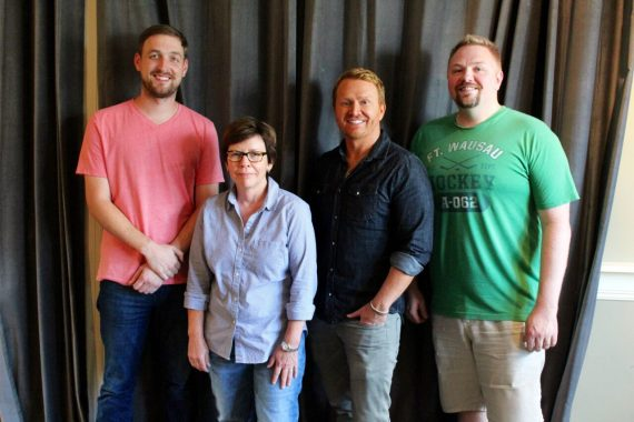 Pictured (L-R): Lee Krabel, SMACKSongs Sr VP/Creative Robin Palmer, SMACKSongs owner/partners Shane McAnally and Josh Osborne. Photo: Elle Hussey
