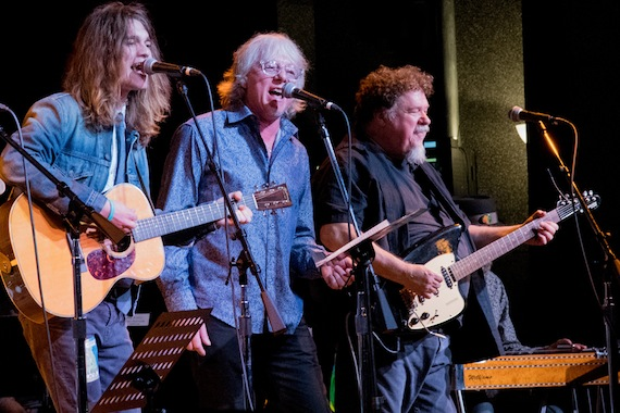 Pictured (L-R): Robin Zander Jr.; Mike Mills; Bill Lloyd of The Long Players