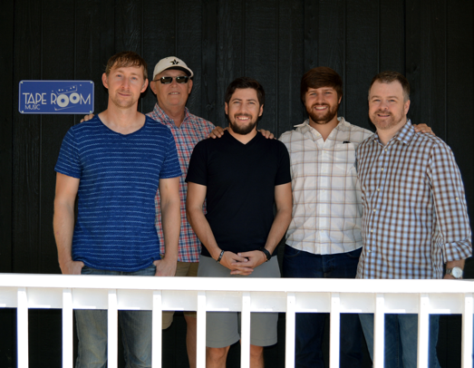 Pictured (L-R): Ashley Gorley, Taperoom; Jeff Carlton, Taperoom; Brad Clawson; Will Overton Warner/Chappell; Ben Vaughn, Warner/Chappell.