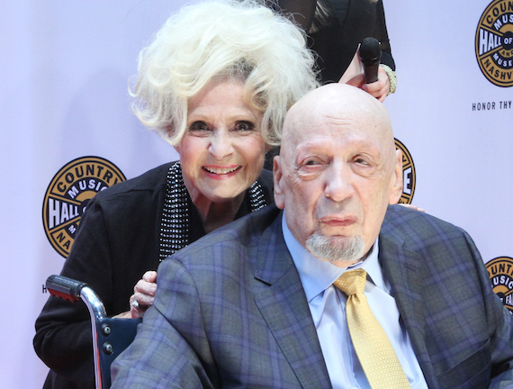 Brenda Lee with Fred Foster on the CMHoF Medallion Ceremony Red Carpet. Photo: Bev Moser/Moments By Moser