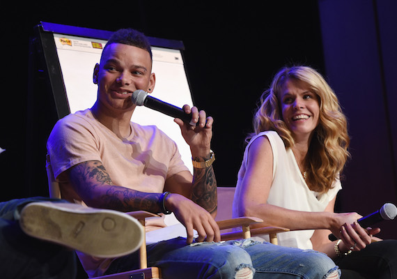 Artist Kane Brown, and manager Martha Earls. Photo: Rick Diamond/Getty Images for IEBA
