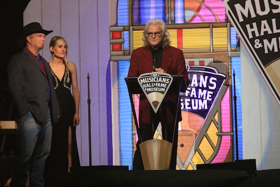 Ricky Skaggs is honored by Garth Brooks. Photo: Moments By Moser Photography