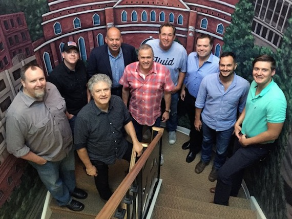 L-R: Brian Bradford, AJ Burton, Daniel Hill, Jon Singer, Billy Lynn, Phillip White, Frank Rogers, Eric Hurt, and Ross Cameron.