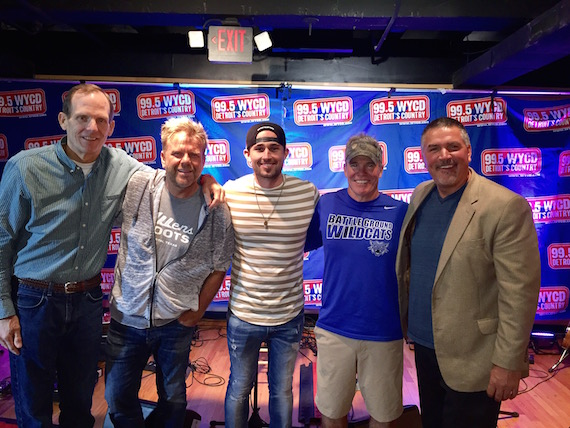 (L-R): BMI's Dan Spears, Wendell Mobley, Warner Bros. recording artist, Michael Ray, Casey Beathard and WYCD-FM Program Director Tim Roberts