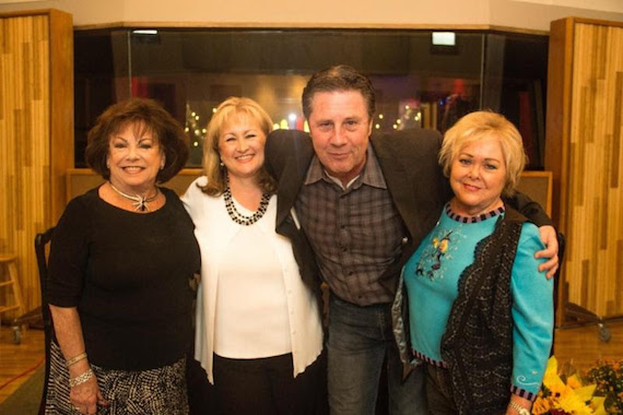 Pictured (L-R): Judy Harris, Shelia Shipley Biddy, Bart Herbison, Pat Rolfe. Photo: Denise Fussell