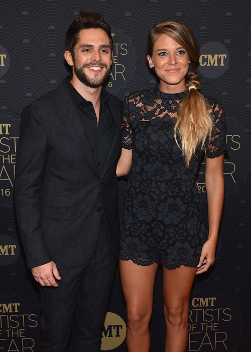 Pictured (L-R): Thomas Rhett and Lauren Gregory. Photo: John Shearer/Getty Images for CMT
