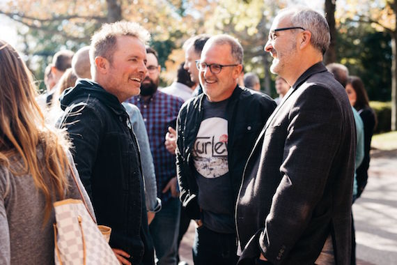 Pictured (L-R): Chris Tomlin, Jimi Williams (VP, CCMG Publishing – Creative and Worship Together), Casey McGinty (EVP, CCMG Publishing)