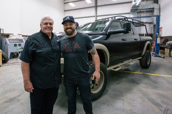 Pictured (L-R): Rick Hendrick and Zac Brown. Photo: PRNewsFoto/Southern Ground