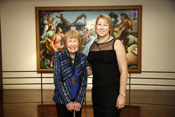 Former CMA CEO Jo Walker Meador and CMA CEO Sarah Trahern at the 2016 Medallion Ceremony at the Country Music Hall of Fame and Museum on Sunday, Oct.17, 2016.