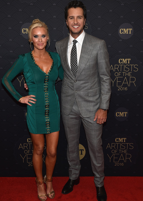 Pictured (L-R): Caroline Boyer and Luke Bryan. Photo: John Shearer/Getty Images for CMT