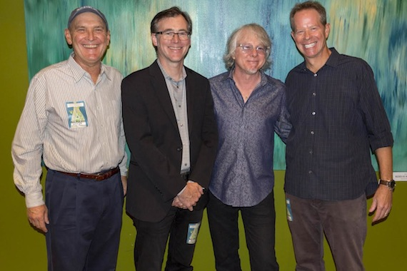 Pictured (L-R): Bertis Downs, R.E.M. Attorney; Craig Havighurst, Event Host; Mike Mills; Tom Truitt, WHO KNEW Founder/Music Row Search. Photo