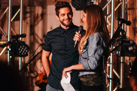Thomas Rhett and Lauren Akins. Photo: Rick Diamond/Getty Images