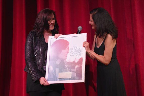 Brandy Clark (L), Leslie Fram (R). Photo: Rick Diamond/Getty Images for CMT
