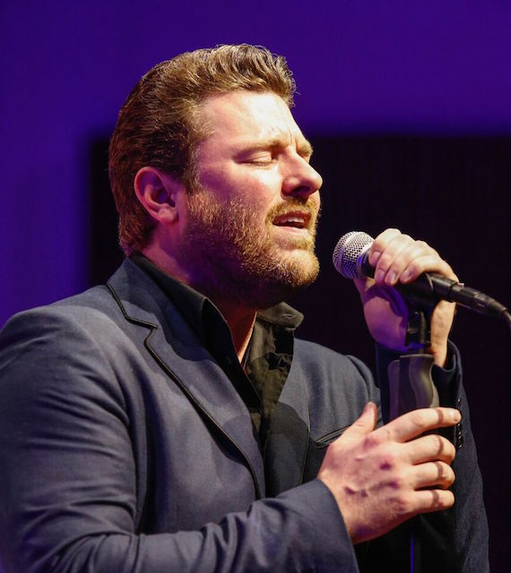 """RCA Records Nashville recording artist Chris Young sang his chart-topping hit """"I'm Comin' Over"""" to celebrate his co-writer and 2016 SESAC Songwriter of the Year, Josh Hoge. Photo: Ed Rode"""