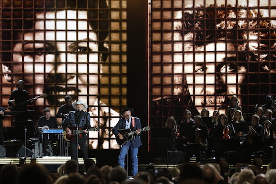 """Alan Jackson and George Strait perform """"Remember When"""" and """"Troubadour"""" at """"The 50th Annual CMA Awards,"""" live Wednesday, Nov. 2 at Bridgestone Arena in Nashville and broadcast on the ABC Television Network."""