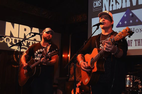 Hitmakers Tyler Farr and Jerrod Niemann performed for the standing room only crowd in support of Folds of Honor. Photo: Rick Diamond/Getty Images for CMS