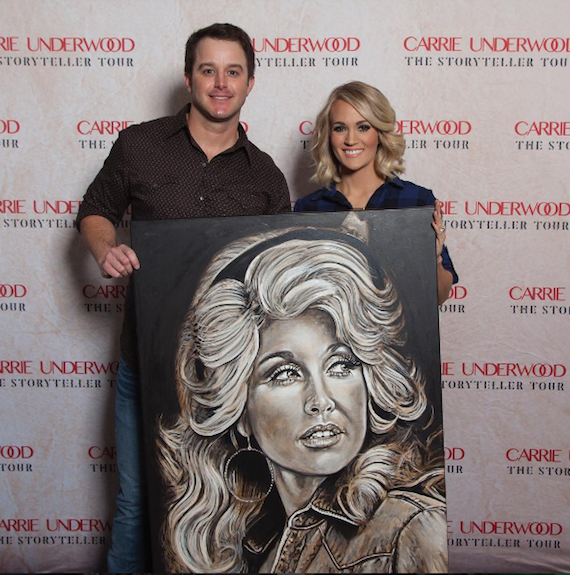 Easton Corbin and Carrie Underwood. Photo: Carrie Underwood/Instagram